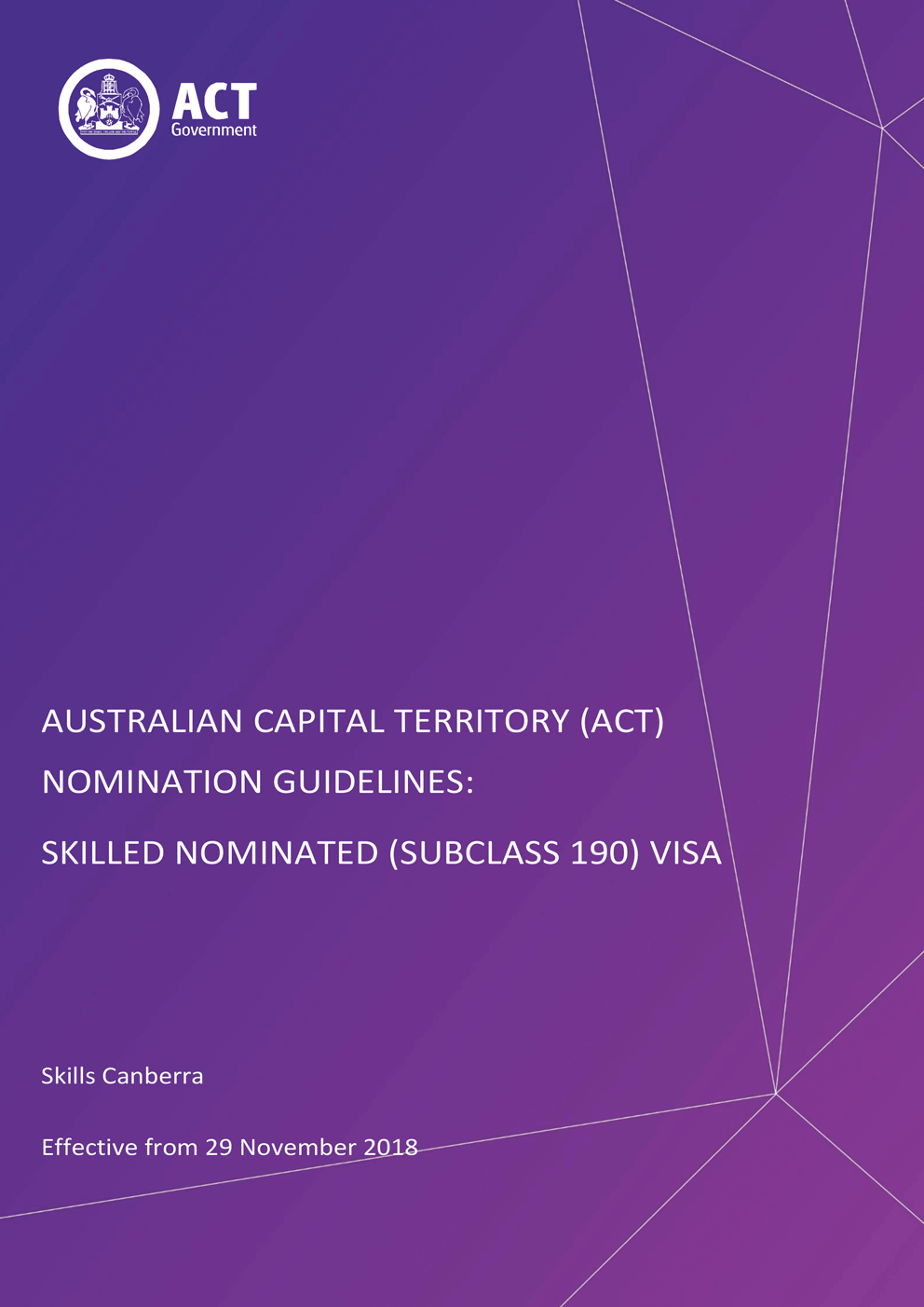 Aussizz Group - Act Nomination Guidelines