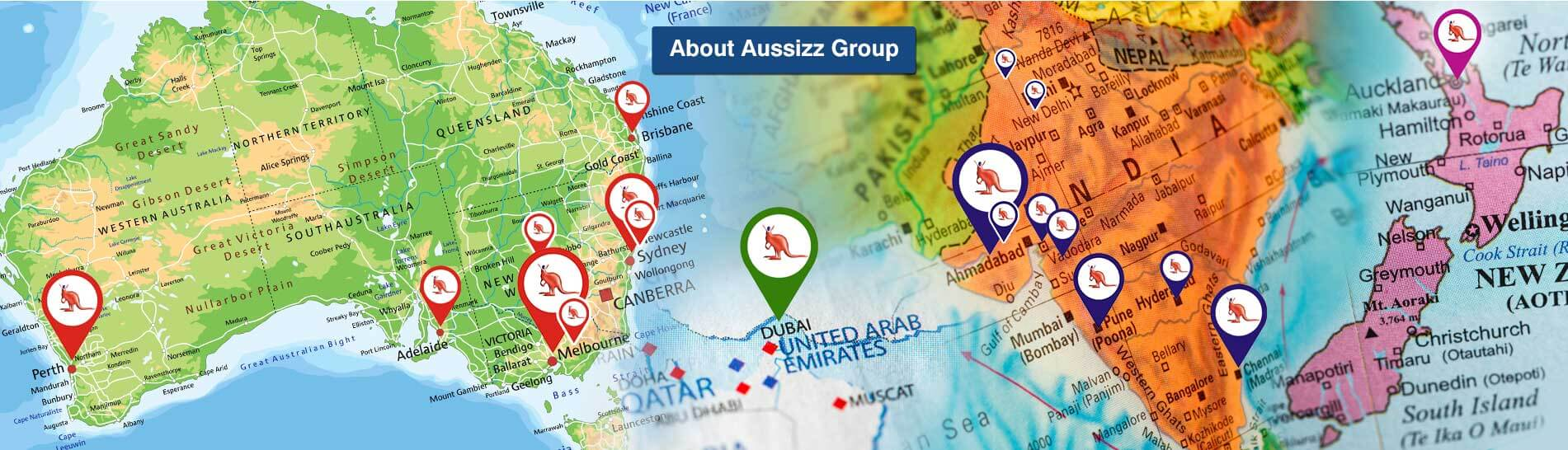 Aussizz Group Map