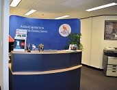 Aussizz Group Sydney Office receptionist area
