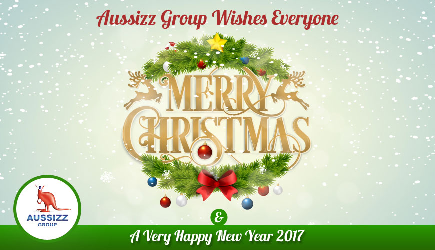 Aussizz Group Wishes Merry Christmas & A Very Happy New Year 2017!