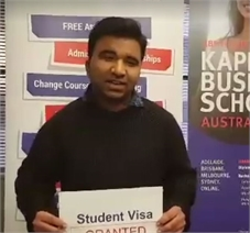 Congratulations to Mr Danish on getting Student visa approved