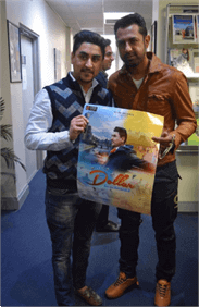 Rock star Gippy Grewal visiting our Melbourne office