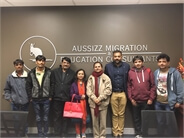 Folk singer Hemant Chauhan at Melbourne office