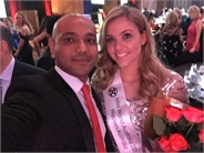 With miss world Australia